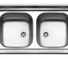 Lavello cucina 2 vasche 80 cm